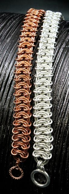Vertebrae Weave...spectacular. I envision these in niobium for cool color blending. By Monster Maille.