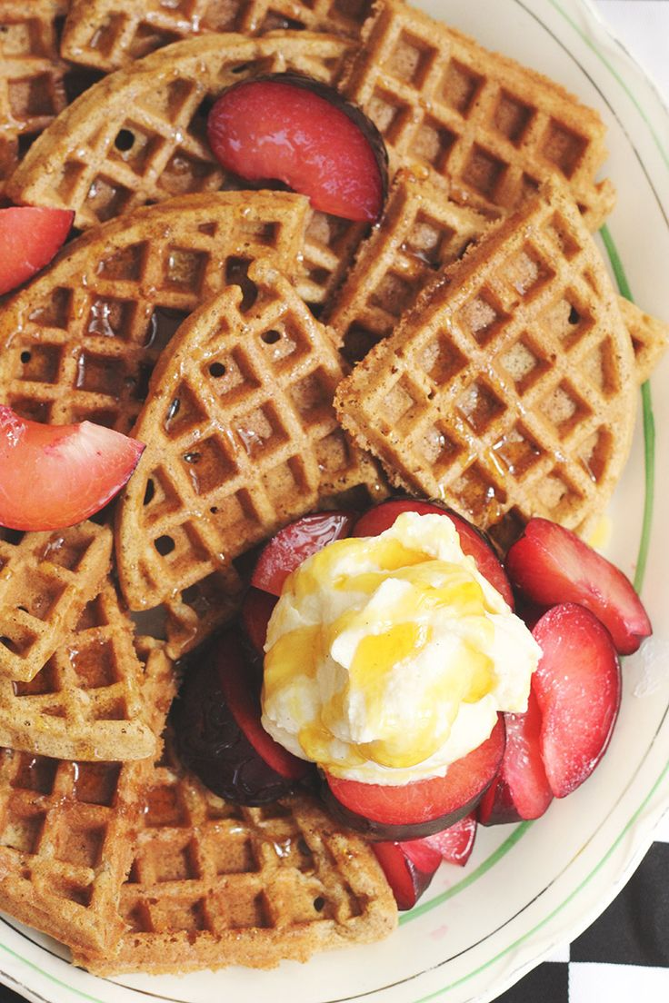 Feather-light Buckwheat Waffles | Pancakes and Waffles | Pinterest