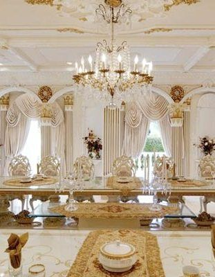 White Gold Dining Area See More Home Design Ideas And
