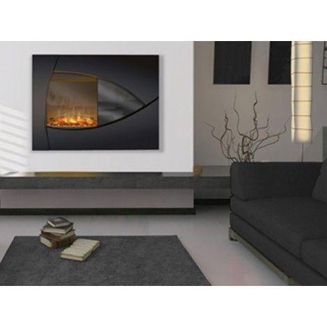 Le design européen et raffiné de ce foyer mural est assuré d'embellir n'importe quelle pièce de la maison. Le noir et gris lustré cadre dans n'importe quel décor contemporain ou se fond discrètement dans un environnement plus traditionnel. Le radiateur silencieux à air pulsé réchauffera n'importe quelle pièce de 400 pieds (122 m) carrés. 120v, Télécommande Marche/Arrêt, 11.7amp garantie 1 an.