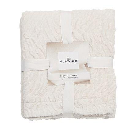 Maison d'Or Throw Chevron Fur Cream - Cushions & Throws - Living Room - Homewares - The Warehouse