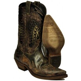Tumbstone Western Boots - Sancho Boots used brown / black