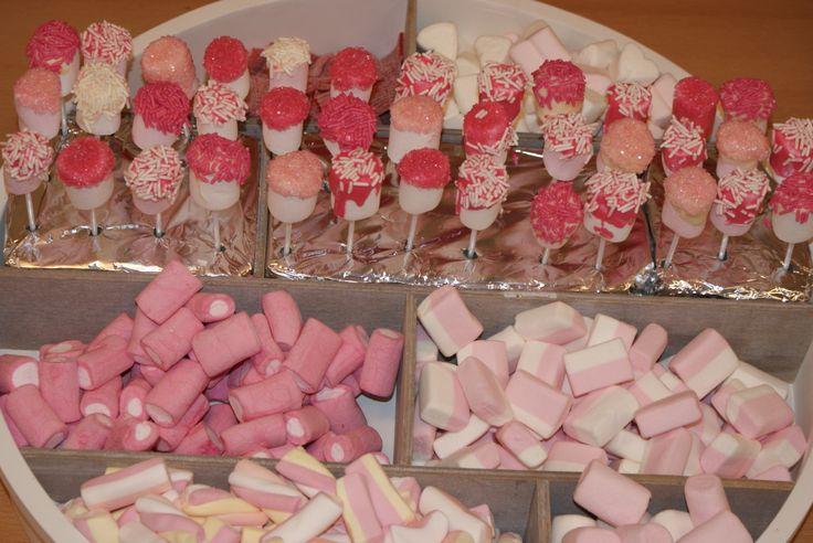 Roze snoep voor de kinderen...