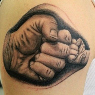Father and Son Fists Tattoo Idea
