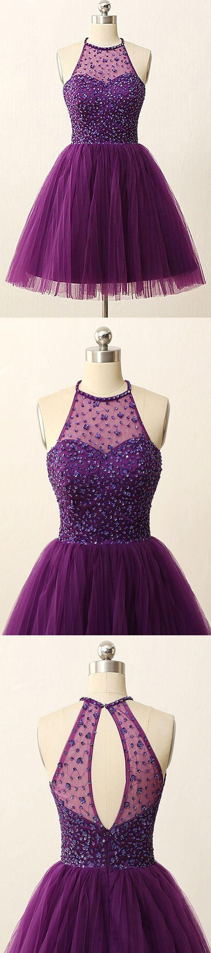 homecoming dress,purple homecoming dress,short homecoming dress,sleeveless…