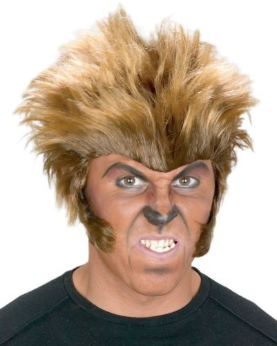 New mans mens ladies halloween wig werewolf wolfman hair spike brown monster  sc 1 st  Pinterest & 10 best Costume hallowen men beard images on Pinterest   Carnivals ...