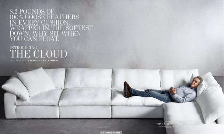 Test road it today! LOVE it! Gotta Have It! Restoration Hardware The Cloud Sectional Sofa | dD