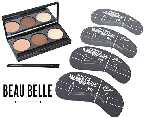 Beau Belle Eyebrow Kit  Eyebrow Stencil  Eyebrow Shaper  Brow Kit  Brow Stencil  Brow Shaper  Eyebrow Stencil Kit  Eyebrow Stencil Template  Eyebrow Stencils Eyebrows Shape  Eyebrow Stencil Kit Shaping Tool >>> Be sure to check out this awesome product.