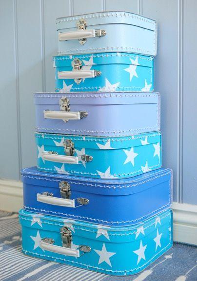 Modré dětské kufříky Kazeto. Blue #Kazeto children #suitcases.