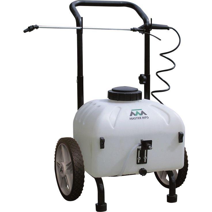 9 Gallon Master Gardener Cart Sprayer   Battery Powered