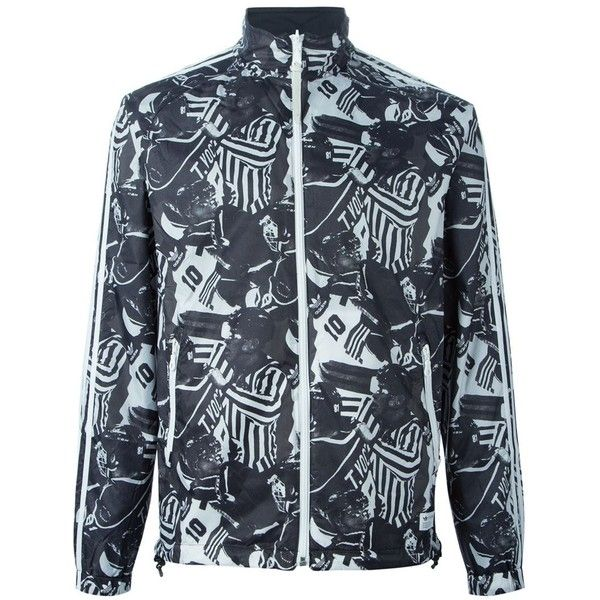 Adidas Originals American Football print jacket (€110) ❤ liked on Polyvore featuring mens, men's clothing, men's activewear and men's activewear jackets