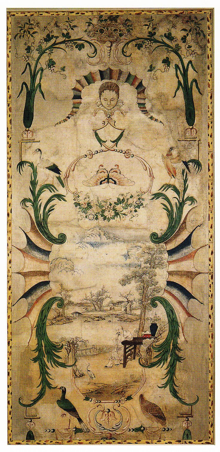 Antique Chinese Tapestry circa 1756. Book: Early Georgian Interiors by John Cornforth