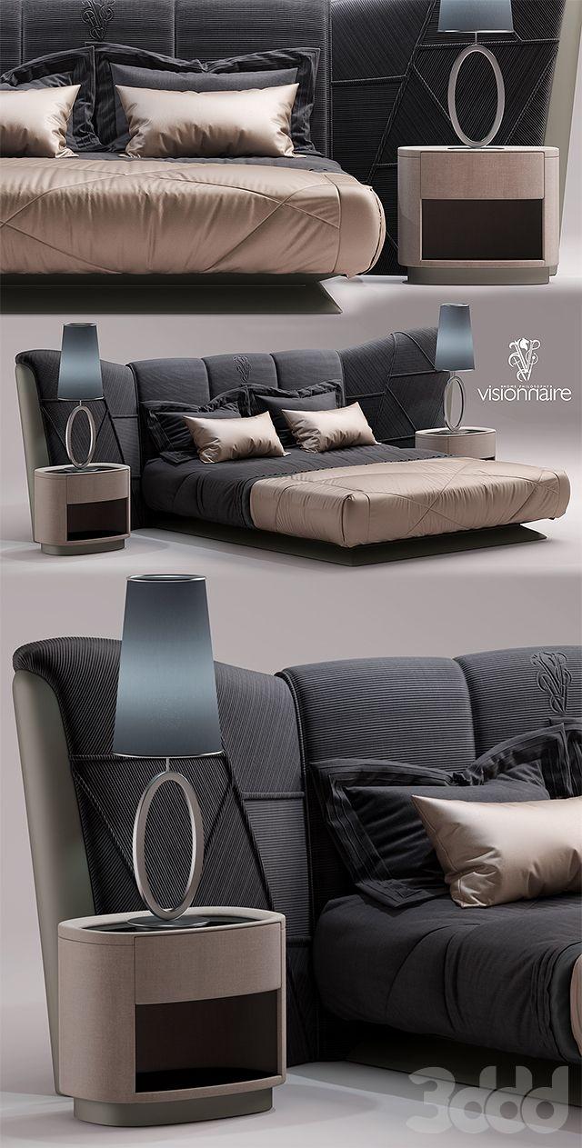 3d модели: Кровати - Кровать visionnaire Plaza BED