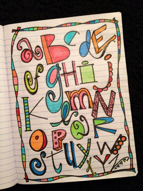 cool alphabet doodling and letters