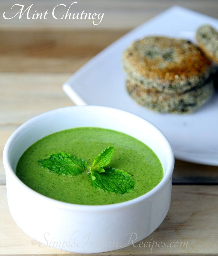 Raw Mint Chutney: Mint chutney or pudhina chutney has loads of health benefits of mint. Mint need to be included in some way or the other in our daily diet. This chutney is one way to include mint in your daily diet. Try the recipe @ http://simpleindianrecipes.com/mintchutney.aspx