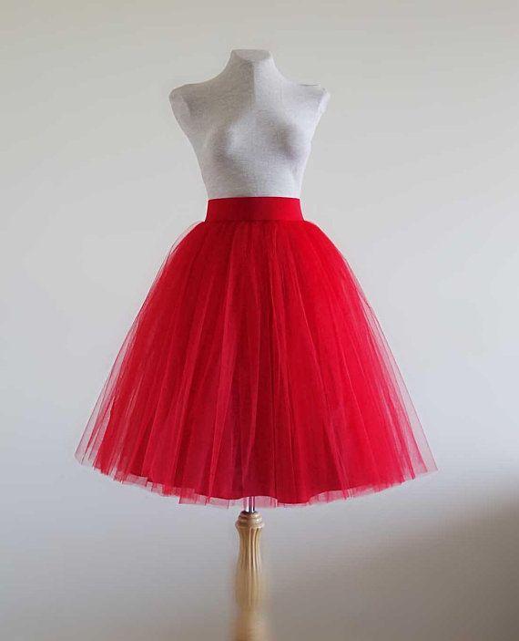 35f616b13c Red Tulle skirt. Tulle skirt. Women tulle skirt. Tutu skirt. Adult ...