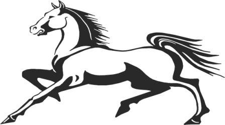 Силуэт лошади W