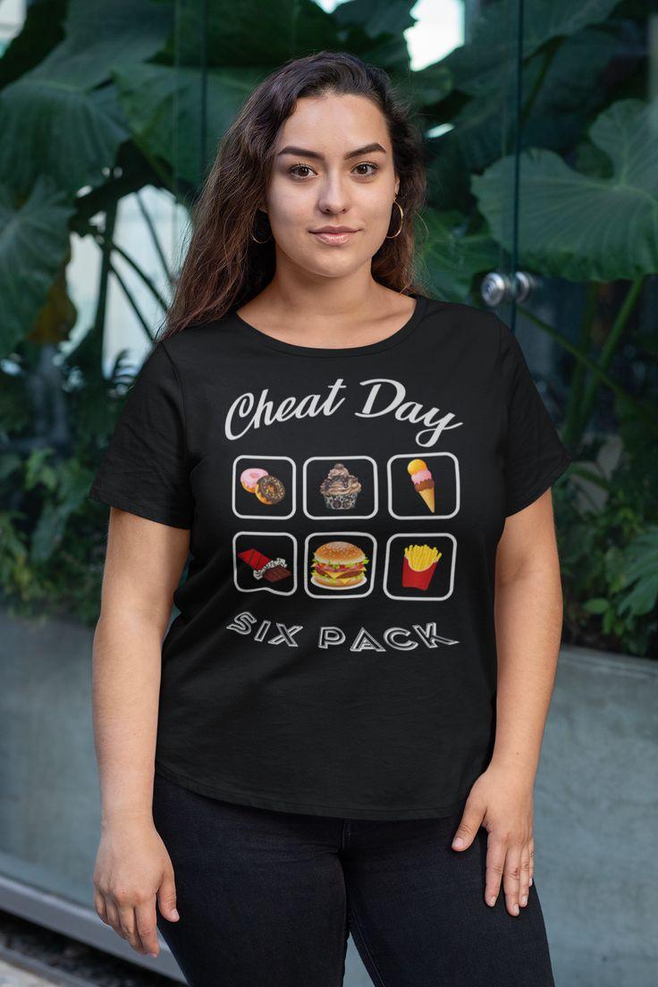 Cheatday Sixpack T-Shirt für Frauen, Männer und Diverse