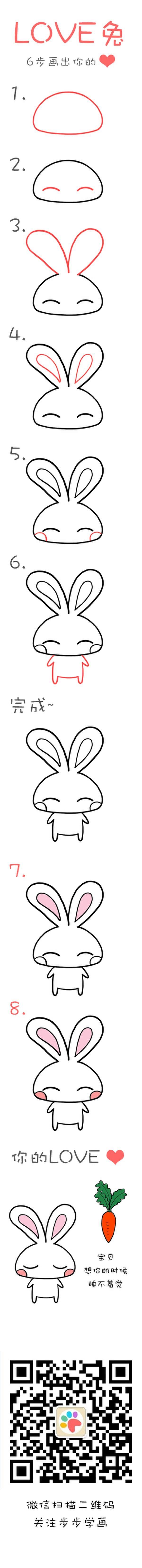 """Tuto dessin : """"Lapin kawaÏ"""""""