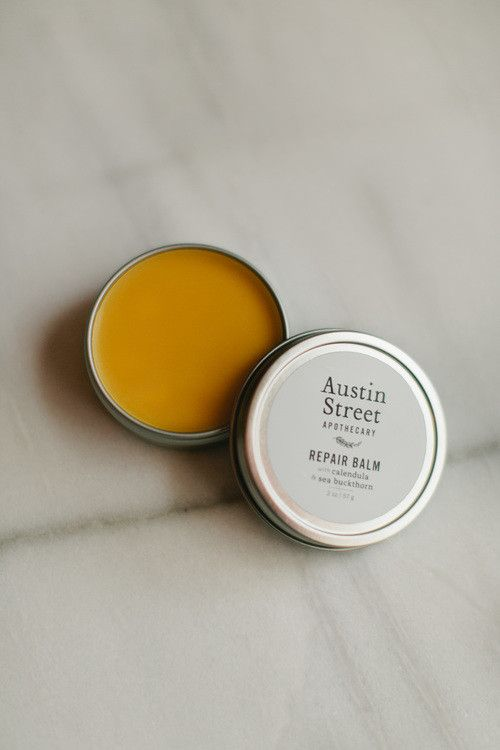 Handcrafted repair balm is the perfect solution for dry, cracked, or damaged skin. A creamy blend of organic shea butter, rosehip seed, sesame, and coconut oils, pure beeswax, and non-GMO vitamin E oi