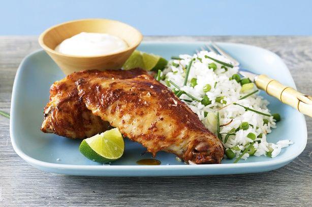 Tandoori turkey and coconut rice | Recipes - Main Dish Poultry, Speci ...