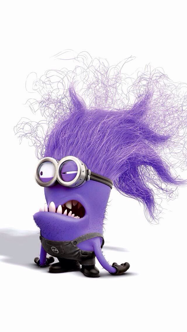 My new fave little minion is the purple bad minions. What can ya say you gotta luv that hair!!