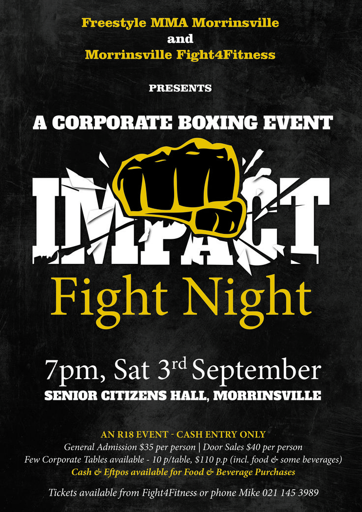 Logo and Poster Design for upcoming Fight night, designed by Imagine If Creative Studios