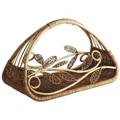 Leaf Scroll Basket
