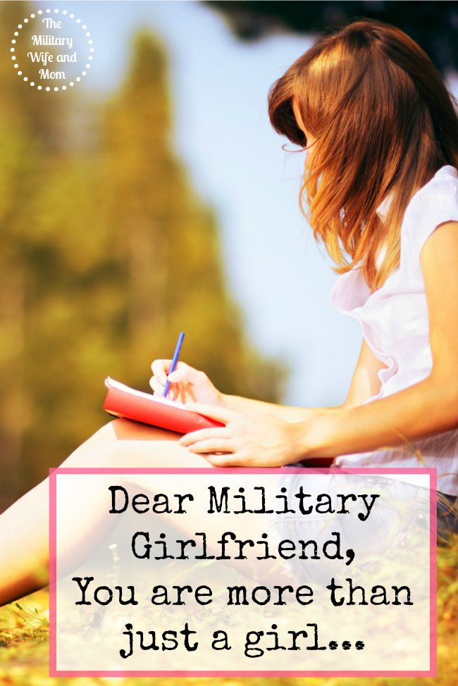 Such a heartfelt letter for any military girlfriend. I adore this!