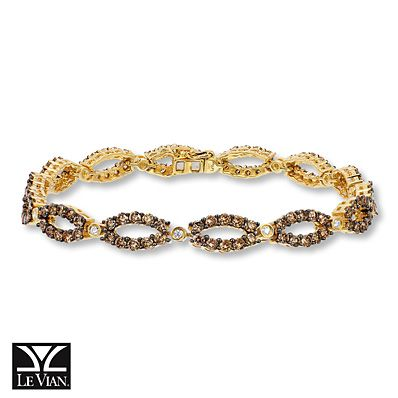 Nothing says autumn like the sweet blend of Honey Gold and Chocolate Diamonds in this Le Vian bracelet.