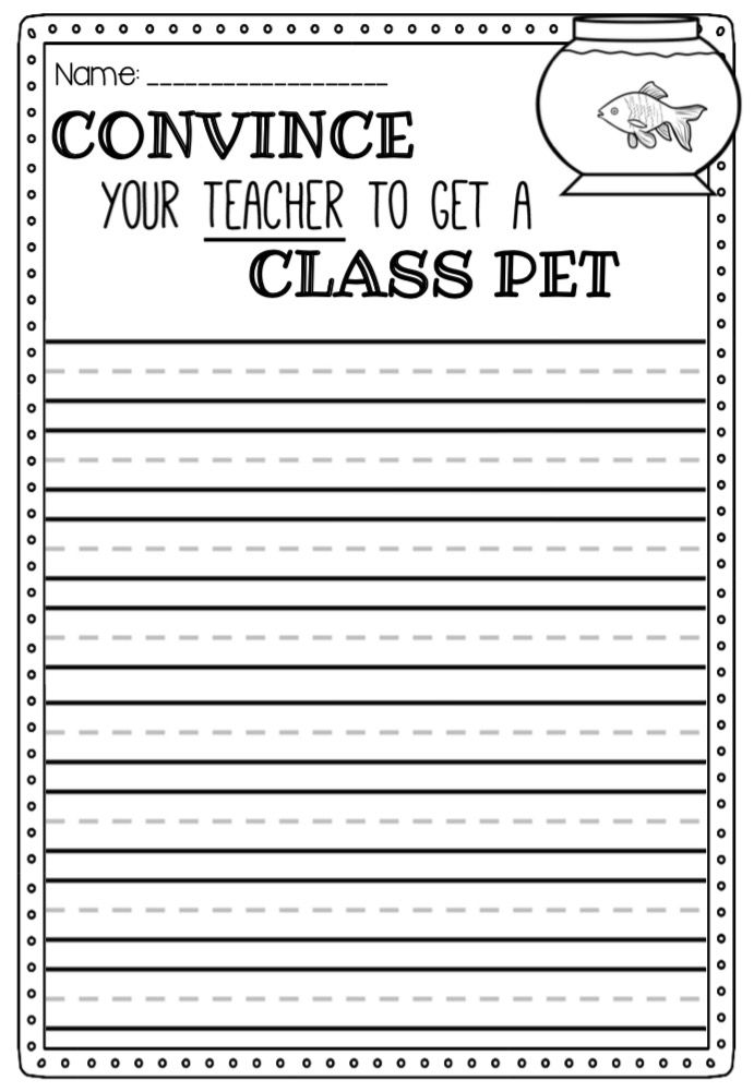 Persuasive writing worksheets