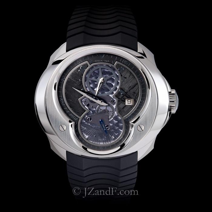 "Watch: Franc Vila FVa15 Column Regulator ""All Black"" - Black Meteorite Dial w. Black Indices    Limited Edition"