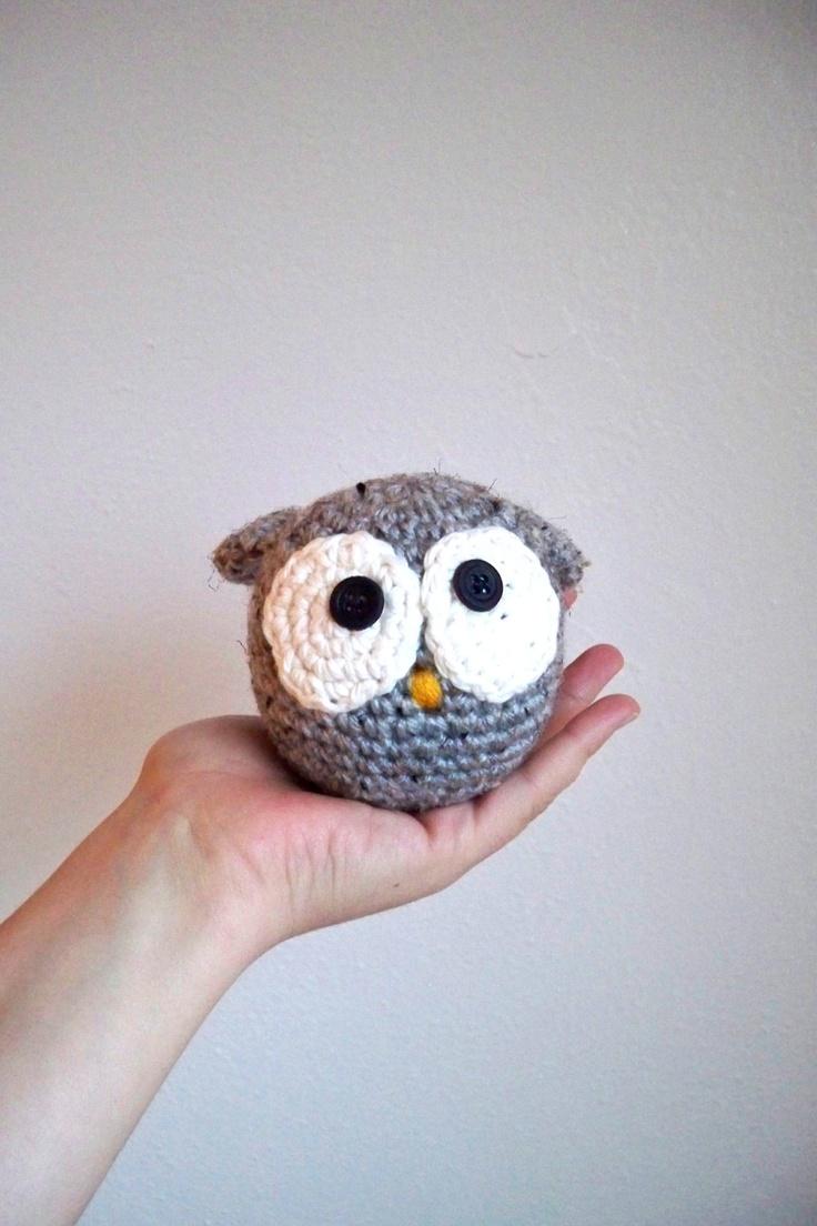 Crochet Owl - Grey
