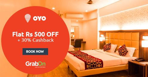 Ultimate Offer + Quick #Cashback = #OyoRooms. Flat Rs 500 Off + 30% Cashback With #MobiKwik. http://www.grabon.in/oyorooms-coupons/