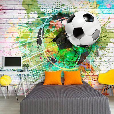 VLIES FOTOTAPETE TAPETEN XXL WANDBILDER FUßBALL SPORT GRAFFITI i-B-0044-a-a in Heimwerker, Farben, Tapeten & Zubehör, Tapeten & Zubehör | eBay