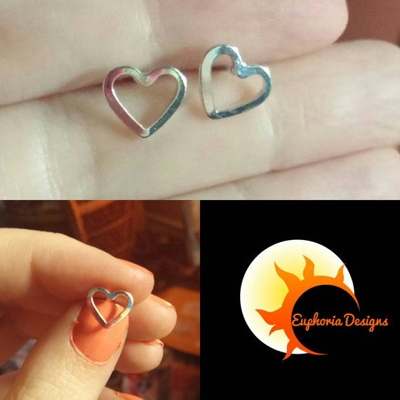 Check out this item in my Etsy shop https://www.etsy.com/ca/listing/472587591/sale-heart-stud-earrings-used-to-be-500