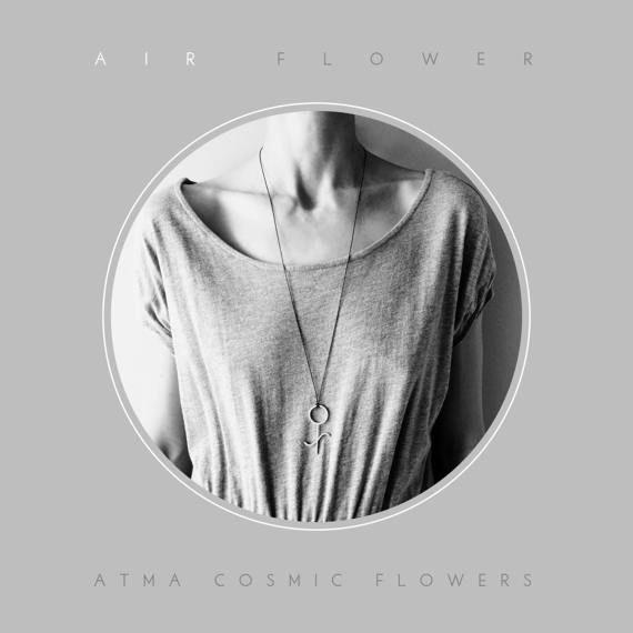 ATMA  Cosmic Flowers //  AIR FLOWER  Silver amulet