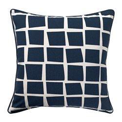 IKEA - GITTE, Housse de coussin, Changez facilement le décor grâce aux motifs différents sur les deux faces.Facile de retirer la housse grâce à la fermeture à glissière.
