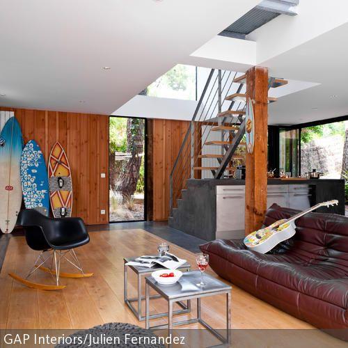 l ssig offener wohnbereich mit eames chair gesehen bei einrichtungsideen. Black Bedroom Furniture Sets. Home Design Ideas