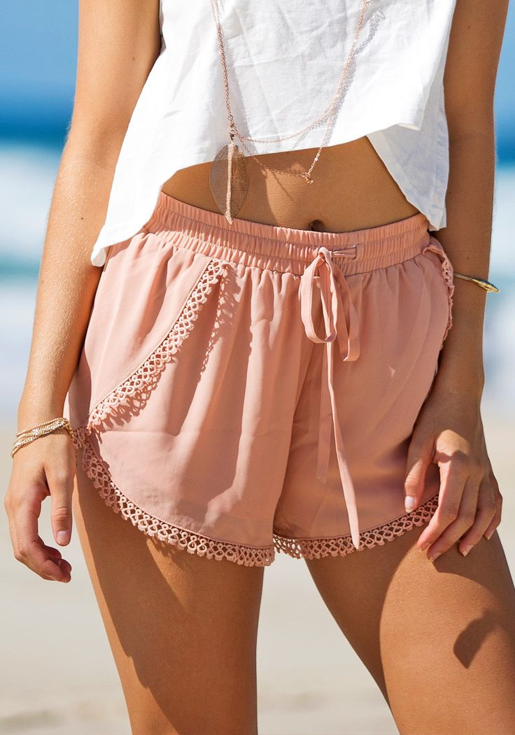 perfect beach shorts!  the chiffon feels so light for summer & could totally be dressed up or down