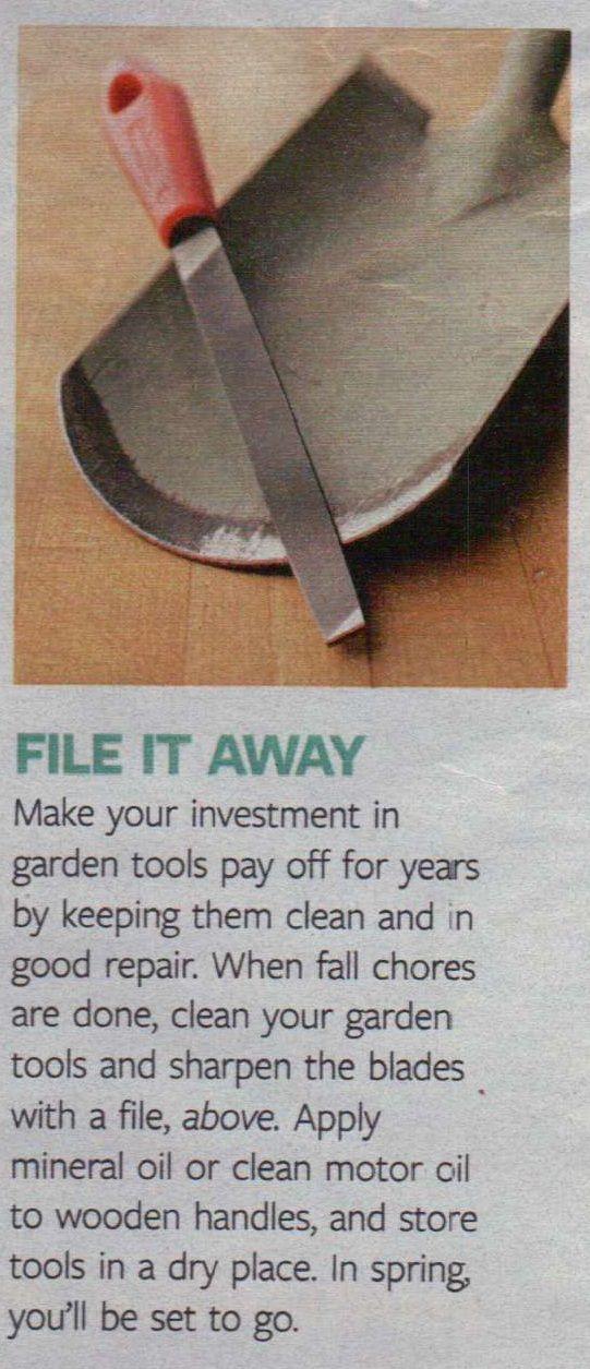garden tool maintenance - if you don't take care of them, they can't take care of your garden...