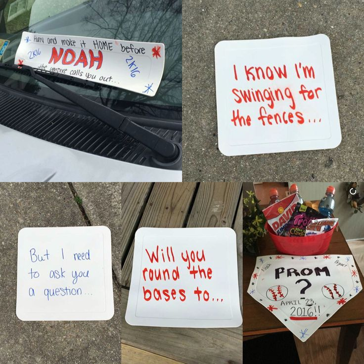 How to ask a baseball player to prom!