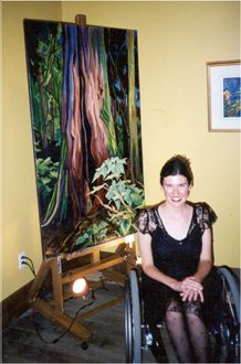 """The """"Here I Am"""" Exhibition took place in Kimberley at the Gilded Goat,  September, 2002."""