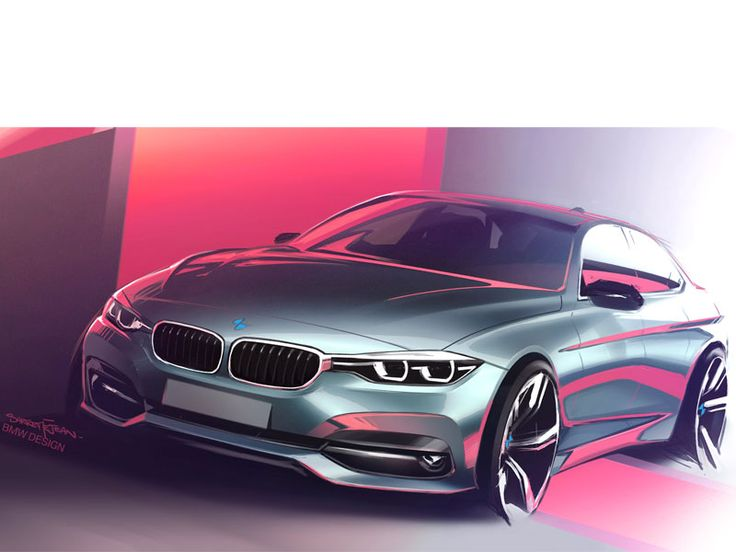 BMW Drawing by French designer