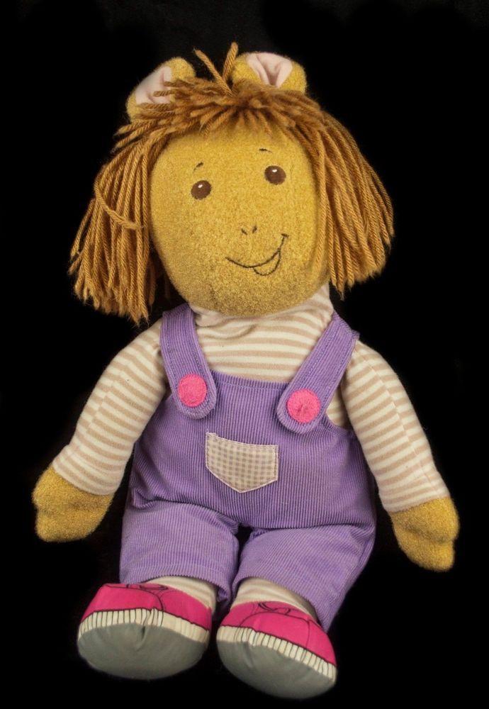 """plush TALKING doll DW Arthur's Sister Dora Winifred 19"""" ©1998 Playskool #Playsckool"""