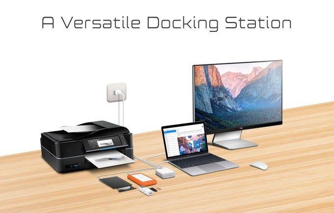 Marble – φορητό 2-in-1 USB-C Dock & Charging Station