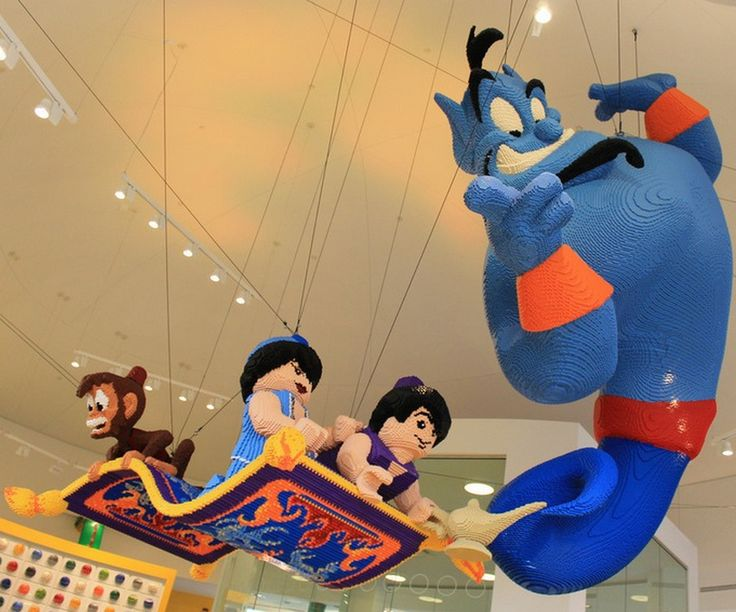 Pretty impressive Aladdin setup.  Not sure why they didn't just make Aladdin and the Princess look more cartoonish.