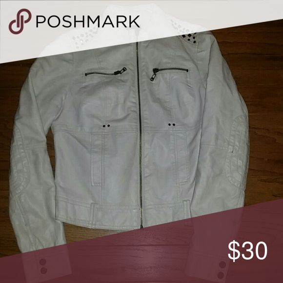 Super cute leather jacket Super cute,in great condition.Feel free to make an offer! Wet Seal Jackets & Coats
