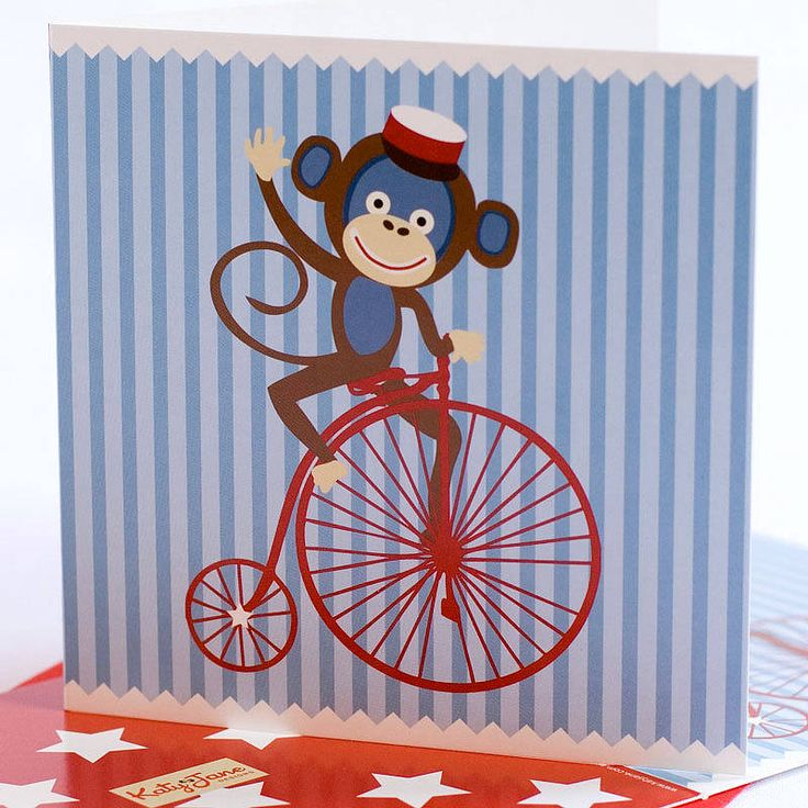Cheeky Monkey Greeting card available at www.motherbabystore.com.au/store