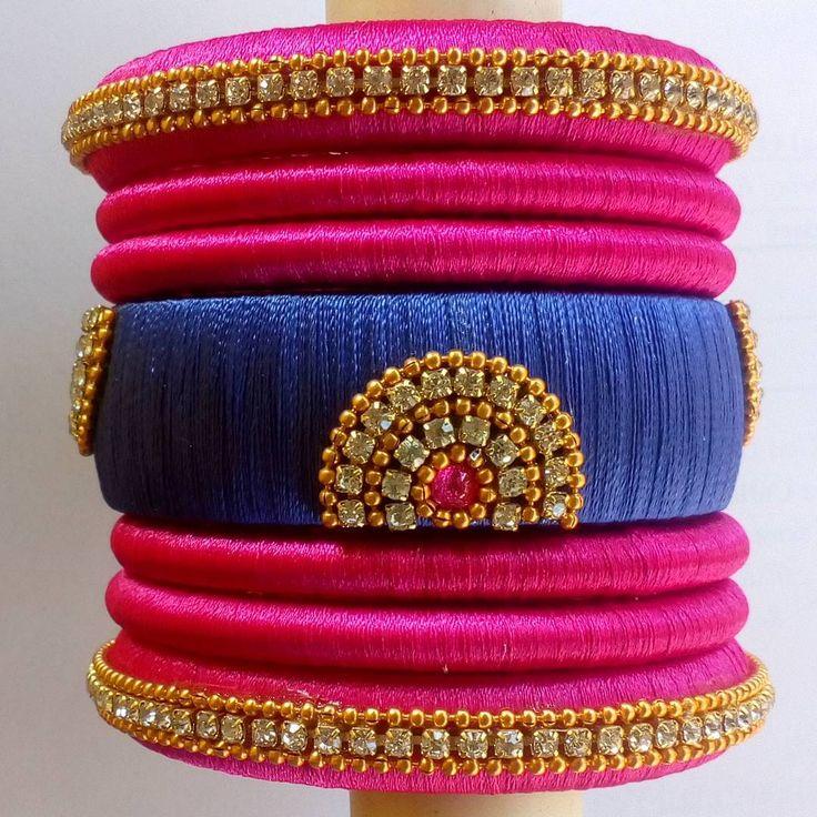 Silk thread bangles #bangles #blue #pink #silkthreadbangles #silkthread #handmade #madewithlove #indianfashion #traditional #fancy #fashion #accessories #imitation #jewellery http://butimag.com/ipost/1495771231932424544/?code=BTCDAKwlKFg